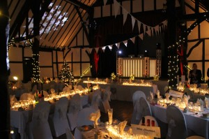 Christmas Wedding with over 600 real candles