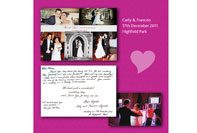 Thank you card received for wedding disco at Highfield Park in Hampshire