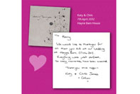 Testimonial for wedding DJ services from another happy couple at Hayne Barn House
